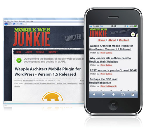MobileWebJunkie with WAPPLE Architect Mobile Plugin